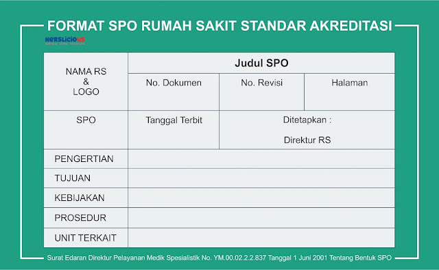 Format SPO Rumah Sakit Sesuai Standar Akreditasi