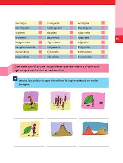 Apoyo Primaria Español 2do grado Bloque 1 lección 15 ¿Están bien escritas las palabras de la fábula?