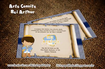Arte convite rei arthur