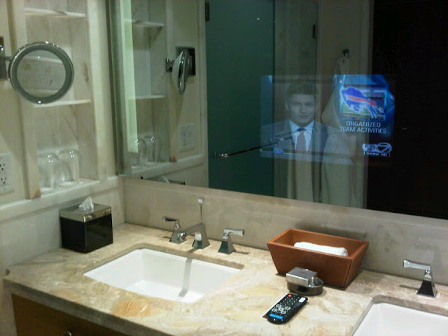 bathroom mirrors with tv built in to da loos the ritz carlton bathroom my husband stayed in 24934