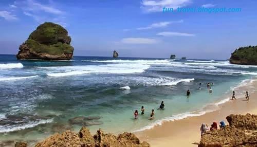The Uniqueness Of Goa Cina Beach Malang East Java