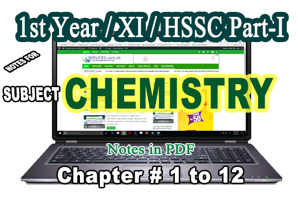 Free Download FSc HSSC Part-I 1st Year XI Class Chemistry