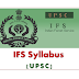 UPSC IFS-Indian Forest Service Exam Agriculture Syllabus