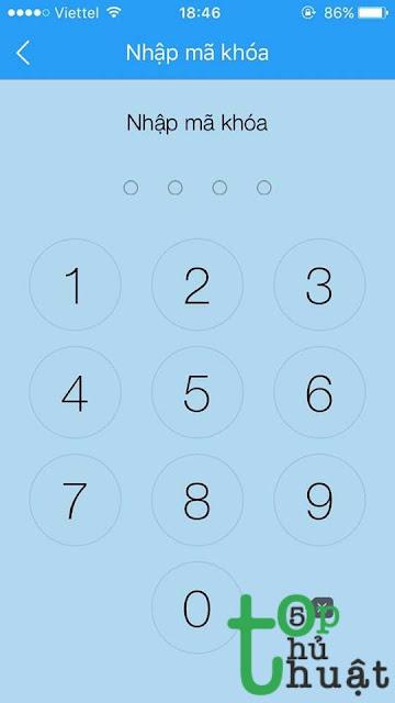 Chọn mật khẩu thích hợp để đặt cho mã khóa ứng dụng của bạn