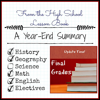 From the High School Lesson Book - A Year-End Summary on Homeschool Coffee Break @ kympossibleblog.blogspot.com