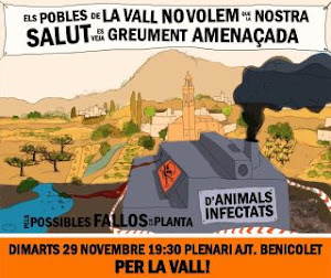 NO A LA PLANTA D'ANIMALS INFECTATS DE LA POBLA DEL DUC