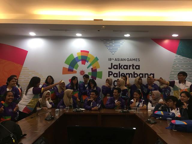 Evaluasi di gedung fx sudirman volunteer asian games 2018