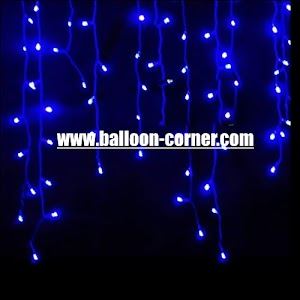 Blue LED Curtain Lights / Lampu Tirai LED Biru