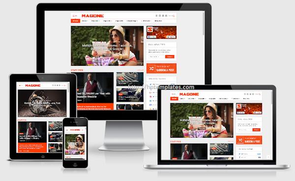 MagOne Template Blogger Premium Free Download