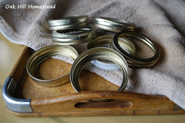 Canning rings, or bands.
