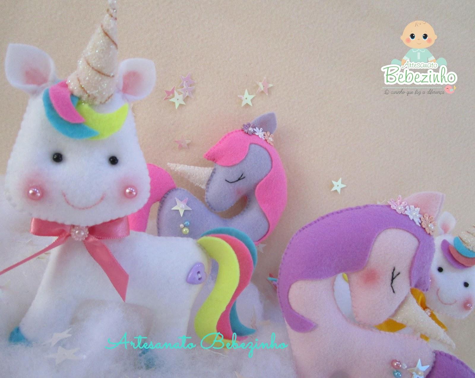 Artesanato Bebezinho Unicornio em Feltro