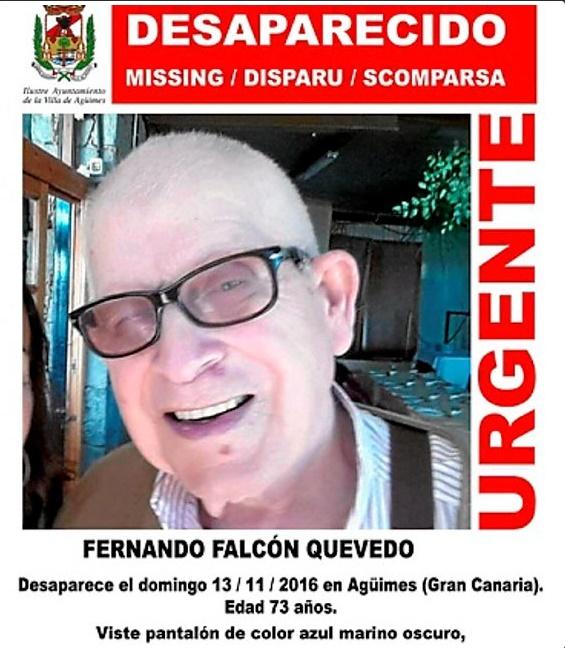 El hombre de Agüimes desaparecido necesita medicación