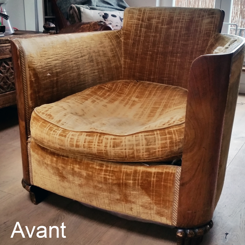 Tapissier Paris 20 atelier velvet | artisan tapissier paris 10e: avant | après
