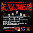 FA On The Road - EXUMER And THE VERY END Touring In March / April 2013