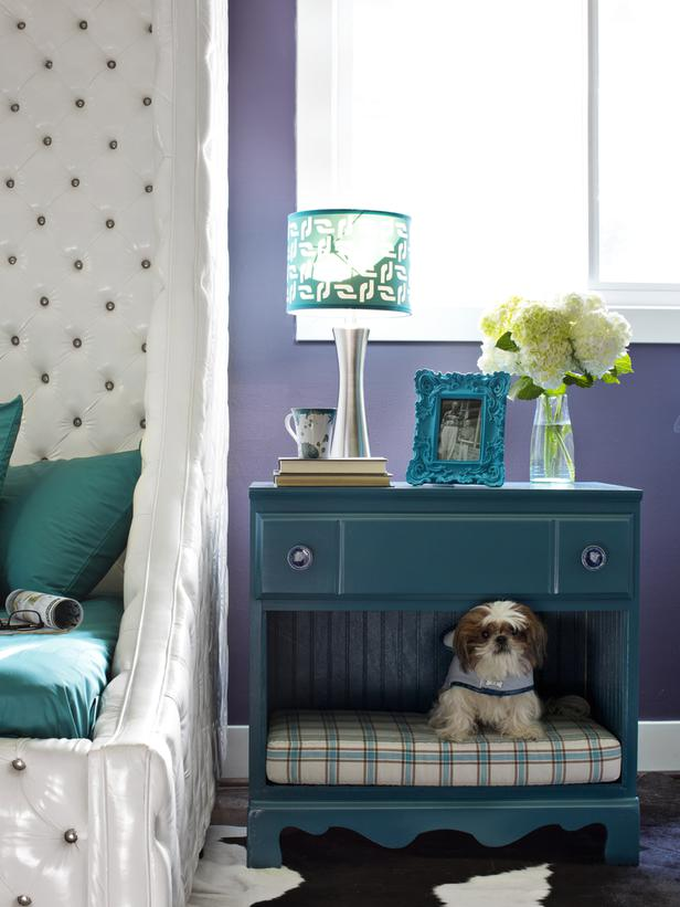 Create your pup's own little nook in your bedside table with this dog bed tutorial