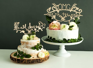 sweet laser cut wedding cake toppers