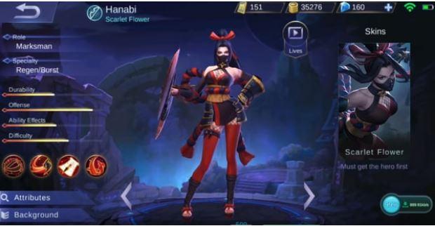 Hanabi Mobile Legend