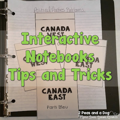 Useful and practical ideas to manage interactive notebooks in your classroom from the 2 Peas and a Dog blog.