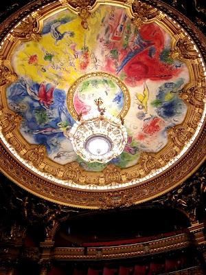Le Chameau Bleu - Visite de l'opéra garnier Plafond par Chagall