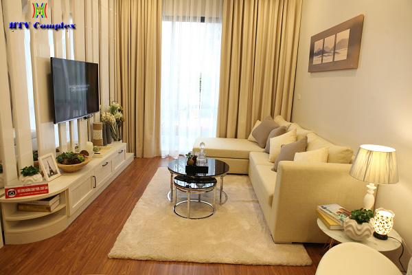 Phòng khách chung cư HTV