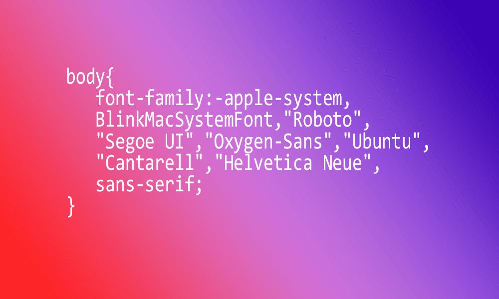 Penggunaan System Font Sebagai Solusi Untuk Menghilangkan Loading Dari Font