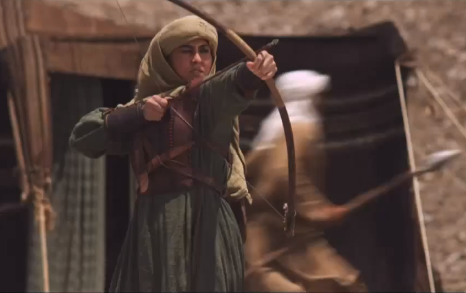 Nusayba b. Ka'b as depicted in the MBC TV Series 'Umar'