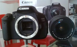 Jual Canon 600D + Lensa 18-55mm is II Fullset