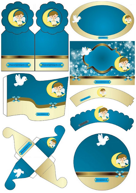 Dove and Angle: Baptism Free Printable Mini Kit.