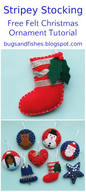 felt stocking ornament tutorial