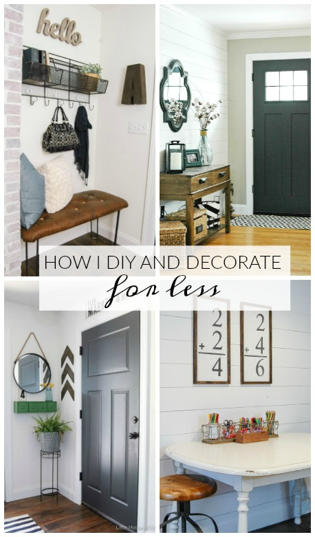 Awesome tips for creating a beautiful home for Less! www.littlehouseoffour.com
