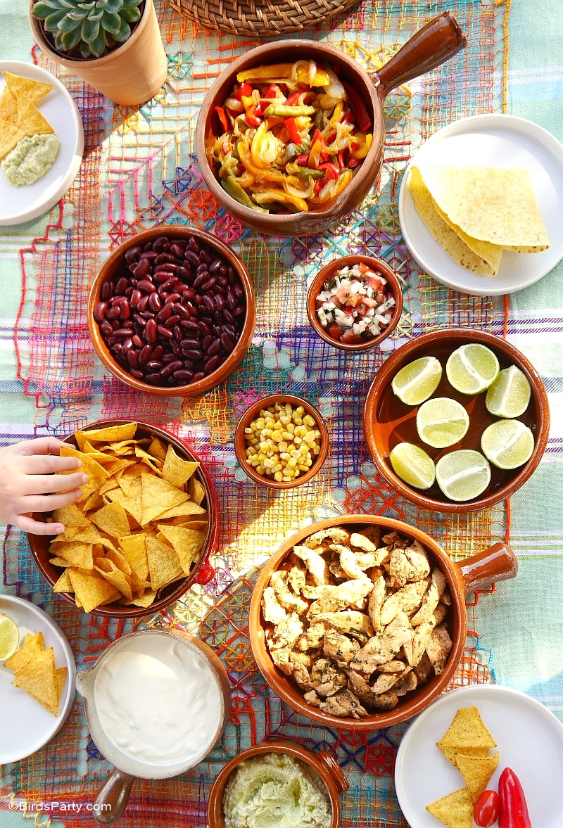 Mexican Fiesta Party Ideas Tablescape & Recipes- BirdsParty.com