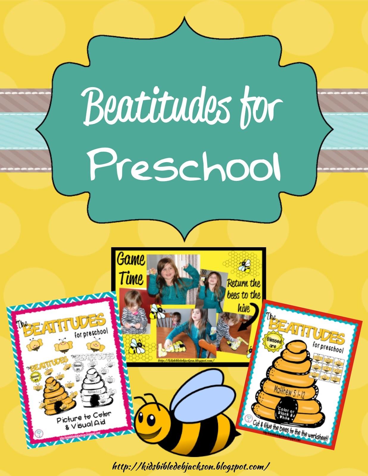 Bible Fun For Kids The Beatitudes Preschool Printables