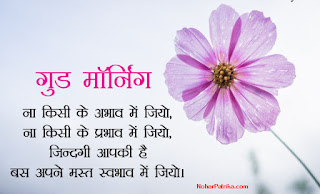 An Inspirational Good Morning Image in Hindi for Whatsapp