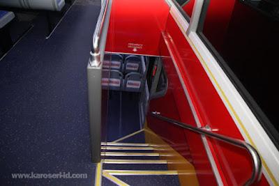 Interior bus tingkat paradise new armada