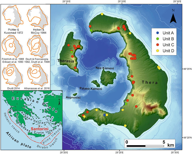 Study reconstructs Santorini's volcanic island Kameni before the Minoan eruption