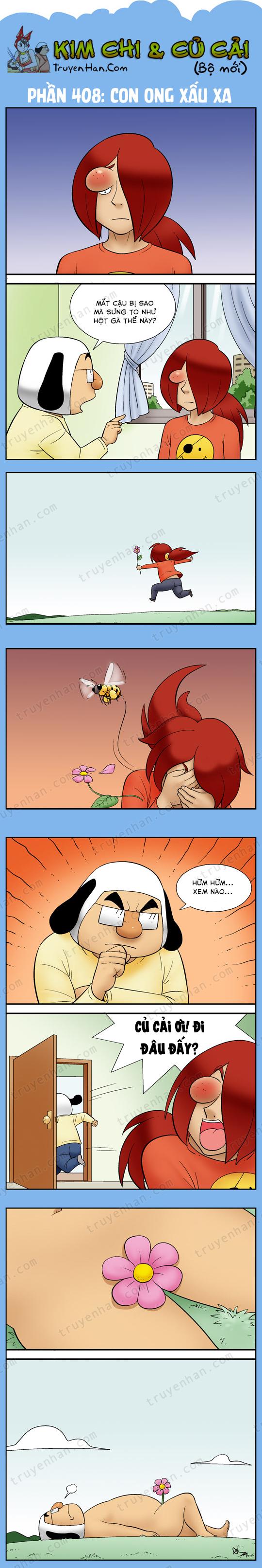 Kim Chi & Củ Cải (bộ mới) phần 408: Con ong xấu xa