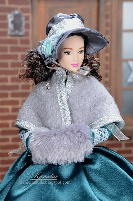 Barbie doll outfit inspired by 19th century fashion.