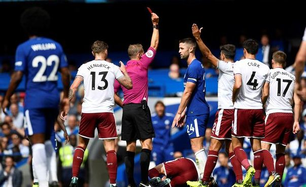 chelsea red card