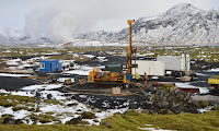 Site close to the Hellisheidi geothermal powerplant, where CO2 was injected into volcanic rock. In two years it was almost completely mineralised. (Photograph Credit: Juerg Matter/Science) Click to Enlarge.