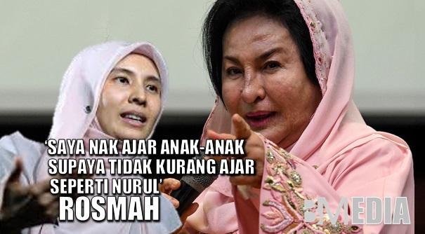 (Video) 'Saya Nak Ajar Anak-anak Supaya Tidak Kurang Ajar Seperti Nurul' – Rosmah