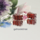 Garnet Earrings AAA Natural Gemstone Sterling Silver