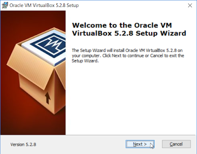 Welcome to the Oracle VM VirtualBox 5.3.8 Setup Wizard