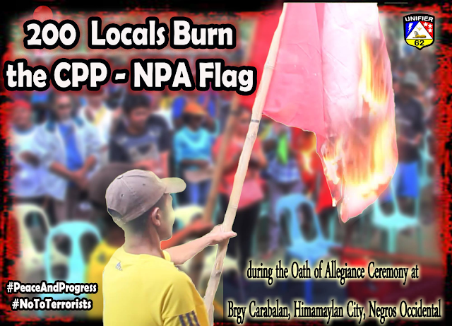 CPP-NPA flag sinunog