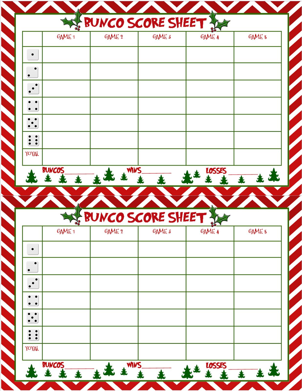 free bunco scorecard template - recipes from stephanie christmas bunco