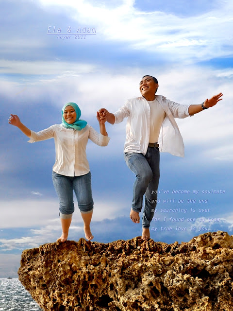 prewedding di pantai anyer