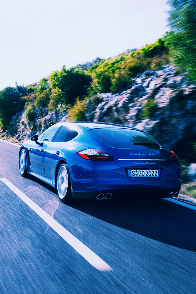 Iphone Wallpapers Pictures Porsche Panamera S Hybrid