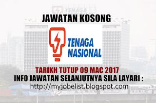 Jawatan Kosong Tenaga Nasional Berhad (TNB) Mac 2017