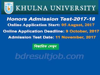 Khulna University Admission Circular 2017-18