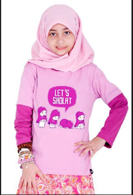 Model Baju Muslim casual Anak Perempuan Umur 12 Tahun