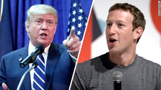 CEO Facebook Kecam Donald Trump